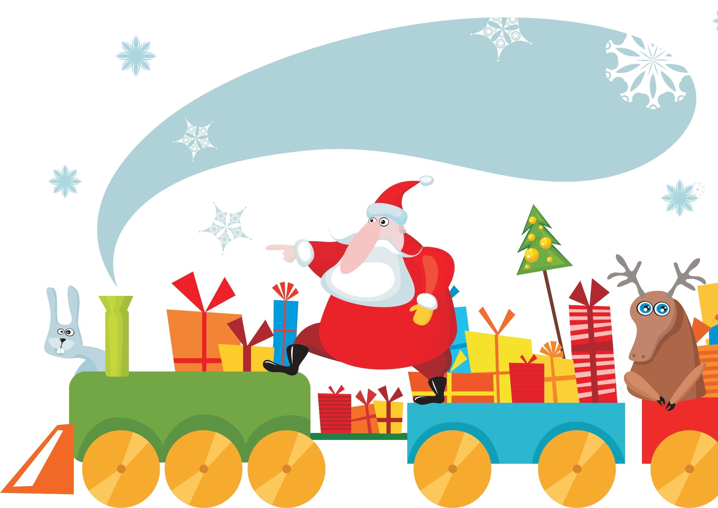 A bordo del trenino di Babbo Natale 2017