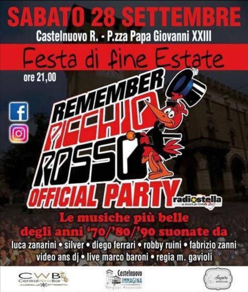 Remember Picchio Rosso – Festa di Fine Estate